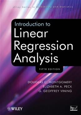 Introduction to Linear Regression Analysis 5 9780470542811