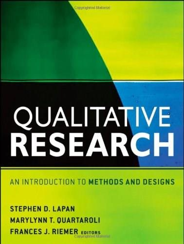 Qualitative Research: An Introduction to Methods and Designs, by Lapan 9780470548004