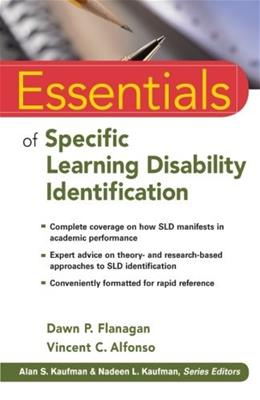 Essentials of Specific Learning Disability Identification, by Flanagan 9780470587607