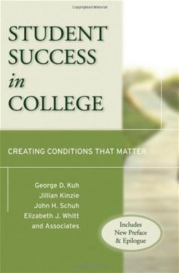 Student Success in College, by Kuh 9780470599099