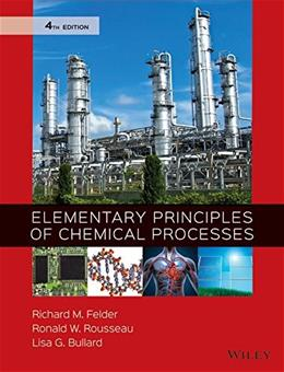 Elementary Principles of Chemical Processes 4 9780470616291