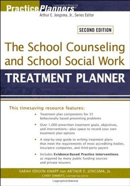 School Counseling and School Social Work Treatment Planner, by Knapp, 2nd Edition 9780470618172