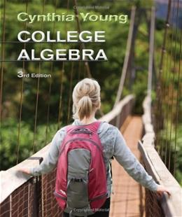 College Algebra, by Young, 3rd Edition 9780470648018