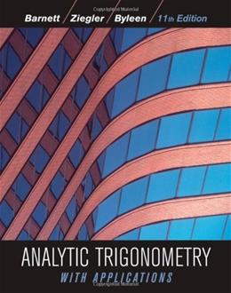 Analytic Trigonometry with Applications 11 9780470648056