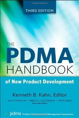 PDMA Handbook of New Product Development, by Kahn, 3rd Edition 9780470648209