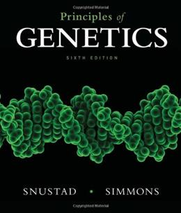 Principles of Genetics 6 9780470903599