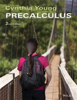 Precalculus, by Young, 2nd Edition 9780470904138