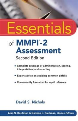 Essentials of MMPI-2 Assessment, by Nichols, 2nd Edition 9780470923238