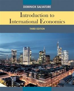 Introduction to International Economics 3 9780470934890