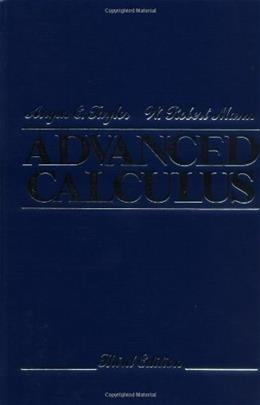 Advanced Calculus, by Taylor, 3rd Edition 9780471025665