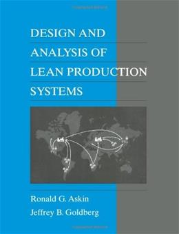 Design and Analysis of Lean Production Systems, by Askin 9780471115939