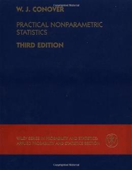 Practical Nonparametric Statistics, by Conover, 3rd Edition 9780471160687