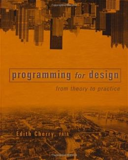 Programming for Design: From Theory to Practice, by Cherry 9780471196457