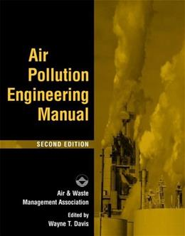 Air Pollution Engineering Manual, by Davis, 2nd Edition 9780471333333