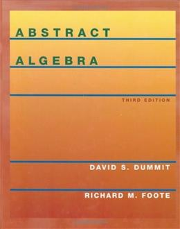 Abstract Algebra, 3rd Edition 9780471433347