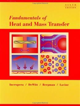 Fundamentals of Heat and Mass Transfer 6 9780471457282