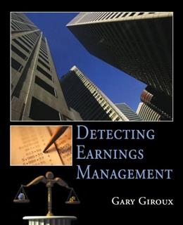 Detecting Earnings Management, by Giroux 9780471470861