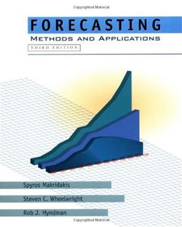 Forecasting: Methods and Applications, by Makridakis, 3rd Edition 9780471532330