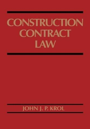Construction Contract Law, by Krol 9780471574149