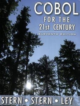 Cobol for the 21st Century, by Stern, 11th Edition 11 PKG 9780471722618