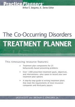 Co Occurring Disorders Treatment Planner, by Klott, 3rd Edition, Manual 9780471730811