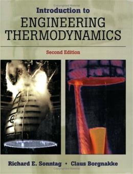 Introduction to Engineering Thermodynamics, by Borgnakke, 2nd Edition 2 PKG 9780471737599