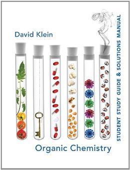 Organic Chemistry, by Klein, Student Study Guide and Solutions Manual 9780471757399