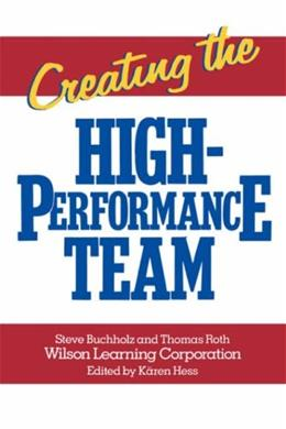 Creating the High Performance Team 1 9780471856740