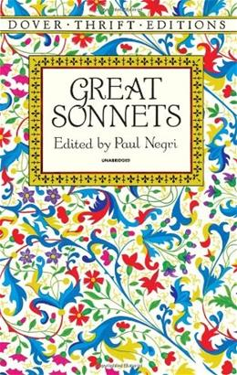 Great Sonnets (Dover Thrift Editions) English La 9780486280523