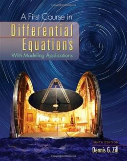 A First Course in Differential Equations Ninth Edition 9 9780495108245