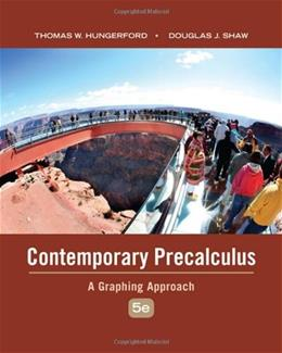 Contemporary Precalculus: A Graphing Approach 5 w/CD 9780495108337