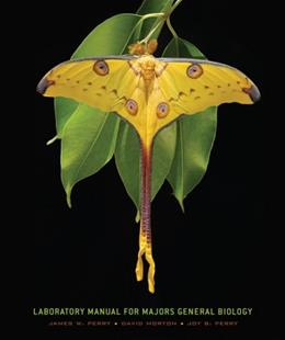 General Biology, by Perry, 8th Edition, Lab Manual 9780495115052