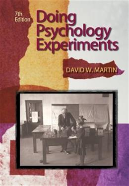 Doing Psychology Experiments, 7th Edition 9780495115779