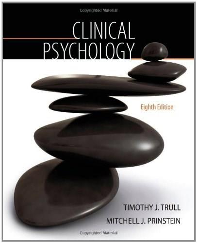 Clinical Psychology (PSY 334 Introduction to Clinical Psychology) 8 9780495508229
