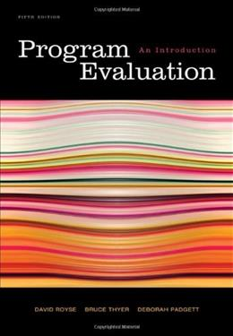 Program Evaluation: An Introduction 5 9780495601661