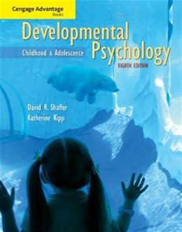 Developmental Psychology, by Shaffer, 8th Edition, Study Guide 9780495603511