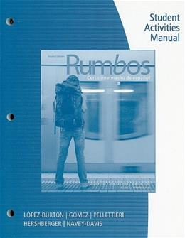 Rumbos, by Pellettieri, 2nd Edition, Activities Manual 9780495800736