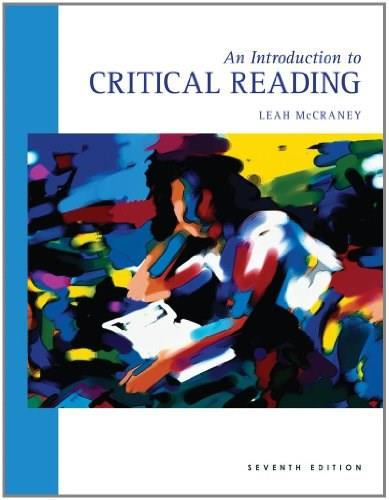 Introduction to Critical Reading, by McCraney, 7th Edition 9780495801795