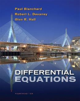 Differential Equations, by Blanchard, 4th Edition, Solutions Manual 9780495826729