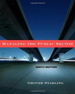Managing the Public Sector 9 9780495833192