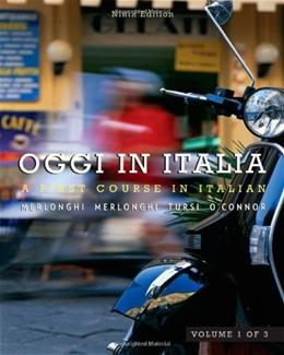 Oggi In Italia, by Merlonghi, 9th Edition, Volume 1 9780495901921