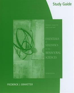 Essentials of Statistics for the Behavioral Sciences, by Gravetter, 7th Edition, Study Guide 9780495903918