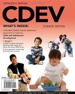 CDEV (with Review Card and CourseMate with eBook, 1 term (6 months) Printed Access Card) (Engaging 4LTR Press Titles in Psychology) PKG 9780495905530