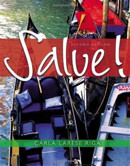 Salve!, by Riga, 2nd Edition 2 w/CD 9780495907770