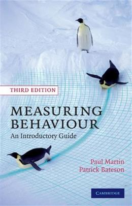 Measuring Behaviour, by Martin, 3rd Edition 9780521535632