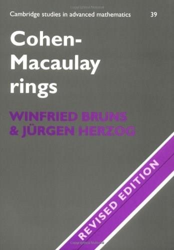 Cohen-Macaulay Rings, by Bruns 9780521566742