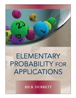 Elementary Probability for Applications, by Durrett 9780521867566