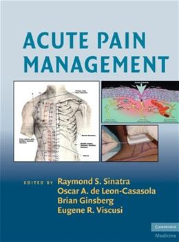 Acute Pain Management, by Sinatra 9780521874915