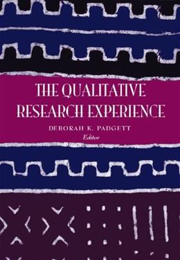 The Qualitative Research Experience (Research, Statistics, & Program Evaluation) 1st 9780534272548