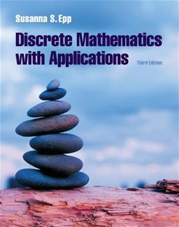 Discrete Mathematics with Applications, by Epp, 3rd Edition 3 w/CD 9780534359454
